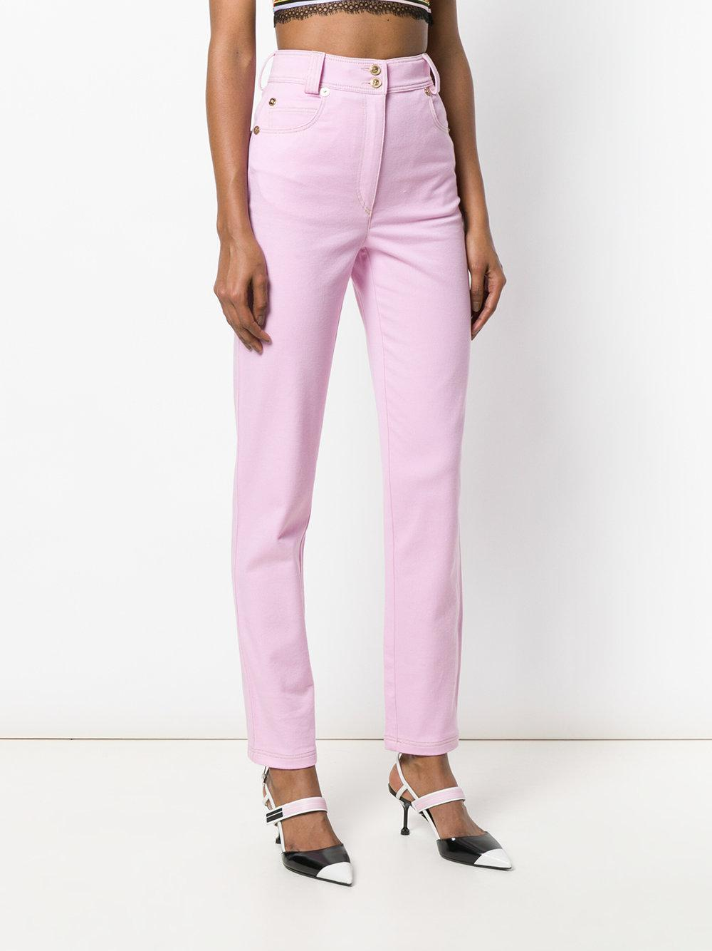 slim fit trousers - Pink & Purple Versace Cheap Sale Fashion Style Outlet Popular Clearance Store r2x3y3Leo
