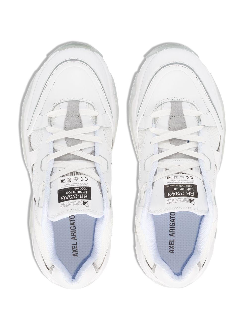 Axel Arigato Leer Catfish Vetersneakers in het Wit voor heren