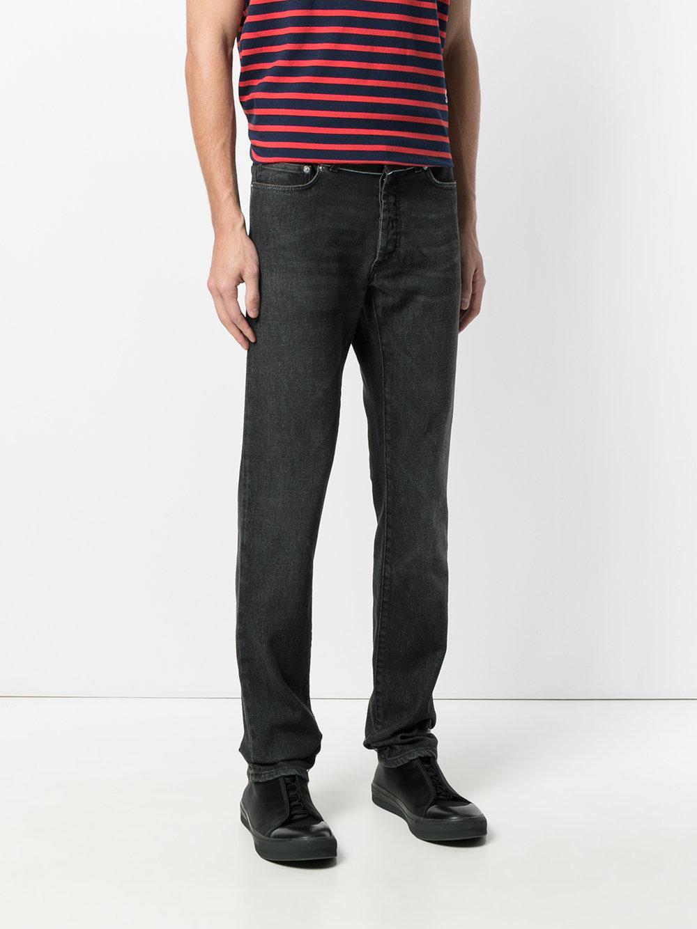 lyst dior homme straight leg jeans in black for men. Black Bedroom Furniture Sets. Home Design Ideas