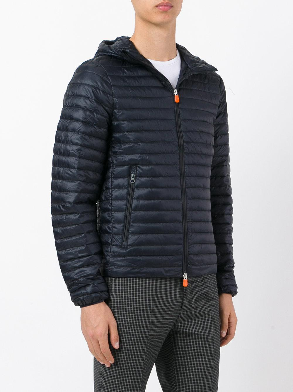Save The Duck Synthetic Hooded Padded Jacket in Blue for Men
