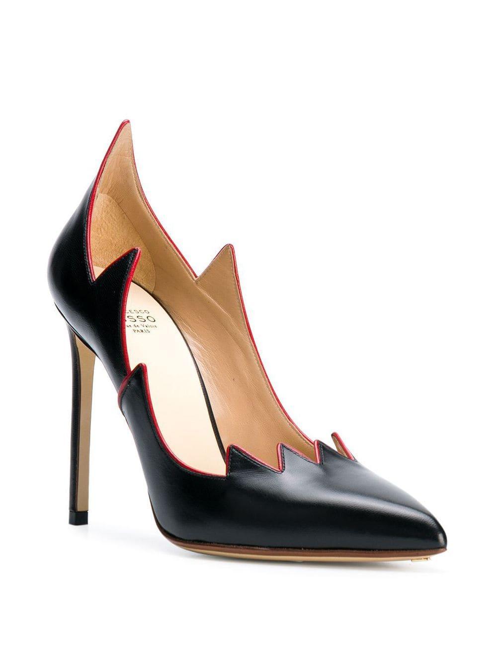Zapatos clásicos con puntera en punta Francesco Russo de Cuero de color Negro