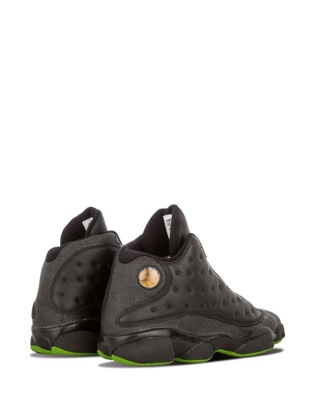 Nike Leer Air Retro 13 Sneakers in het Zwart voor heren