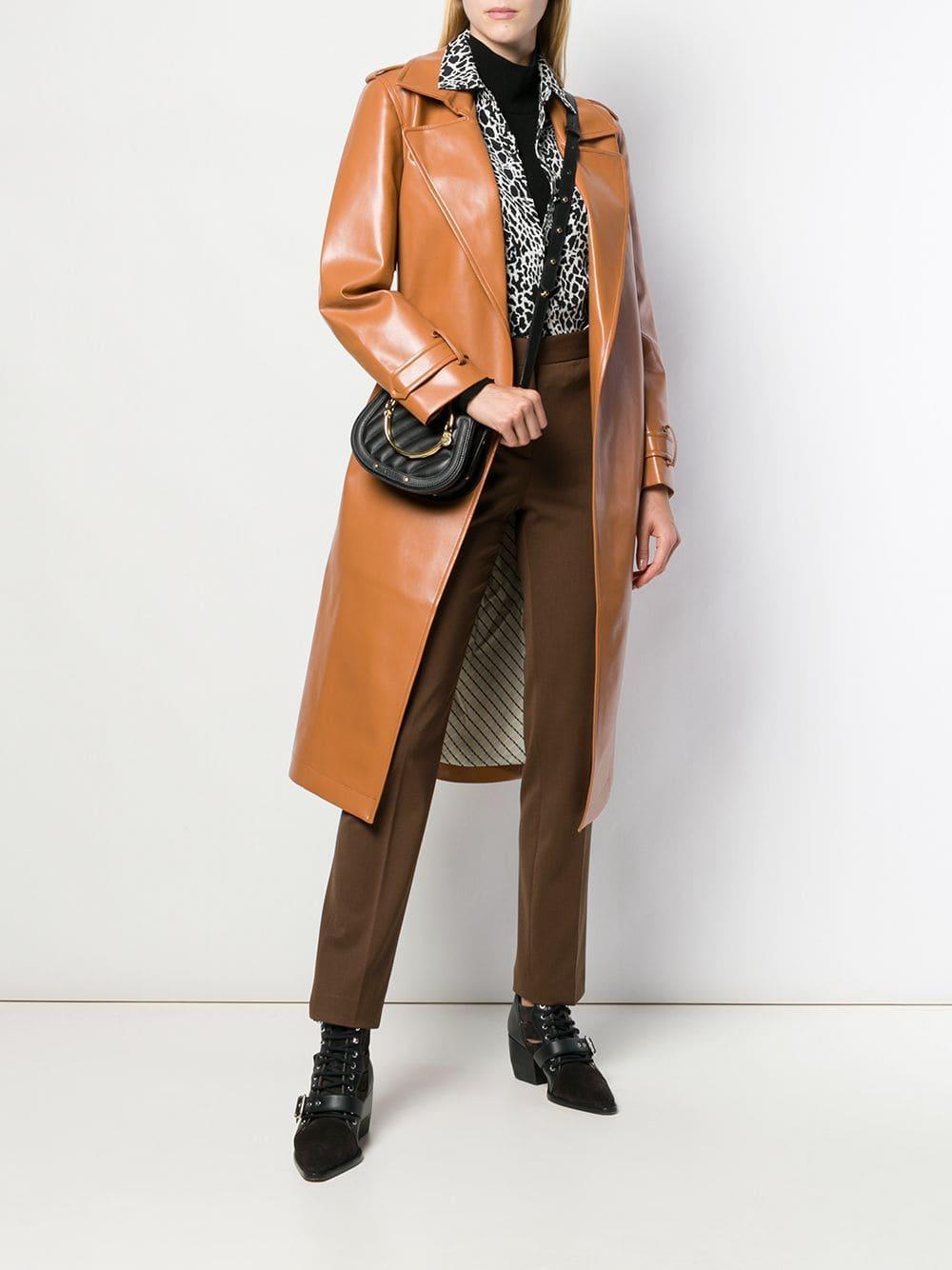 Pantalones de talle alto Alberta Ferretti de Lana de color Marrón