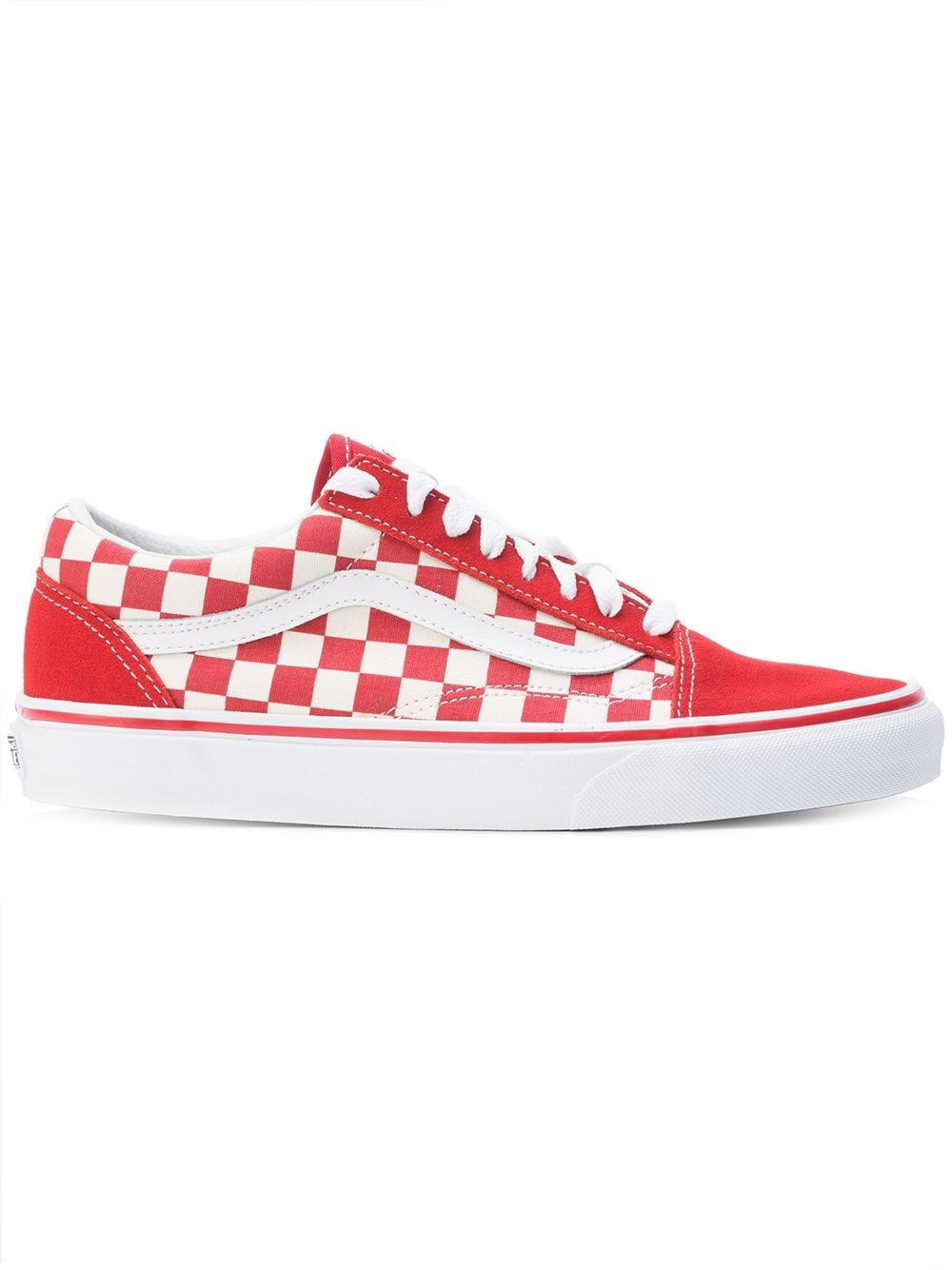 Vans Cotton Checkered Lace-up Sneakers