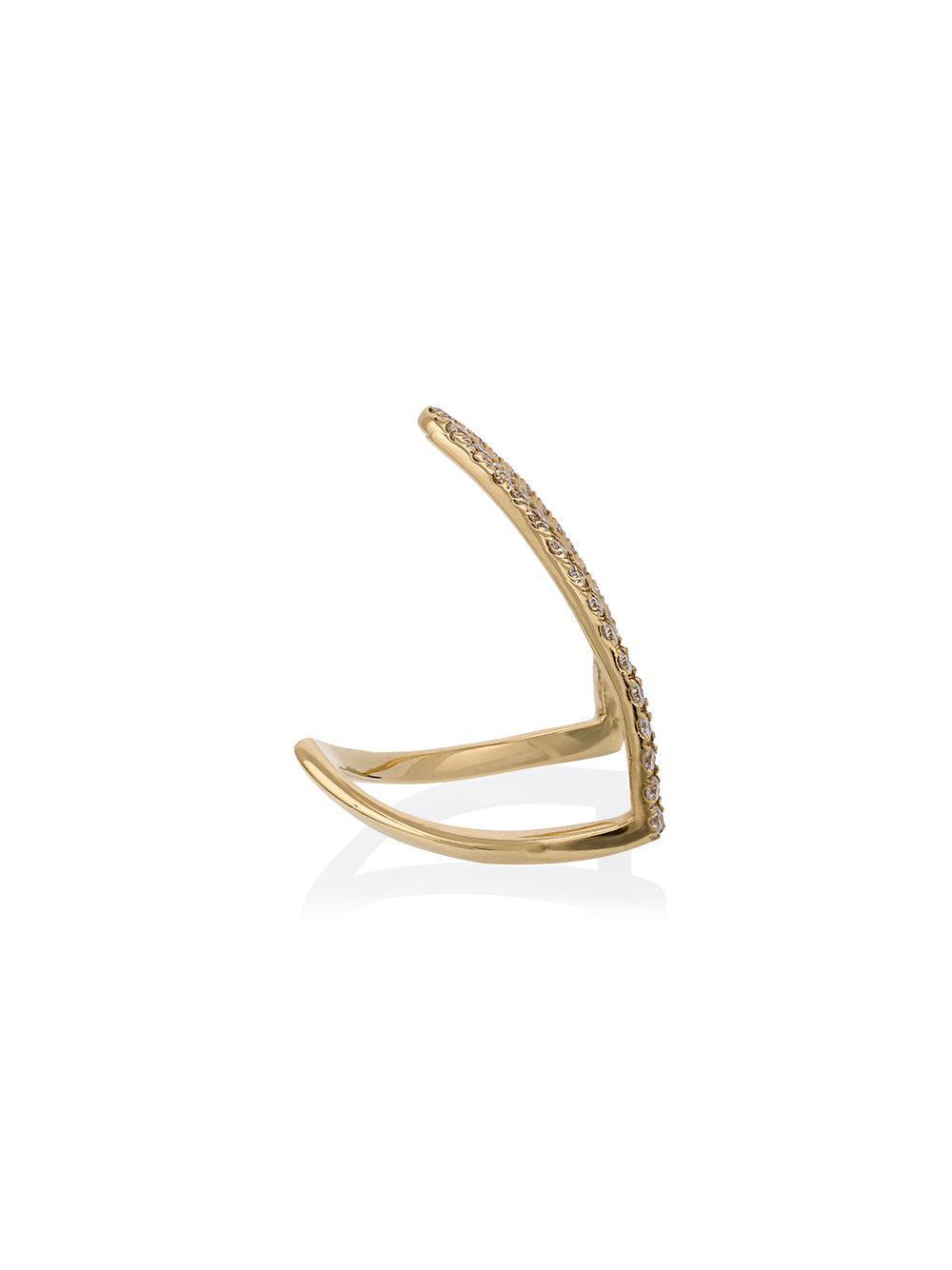 Yvonne Léon Viviane diamond ring - Metallic 493LrEQYNC