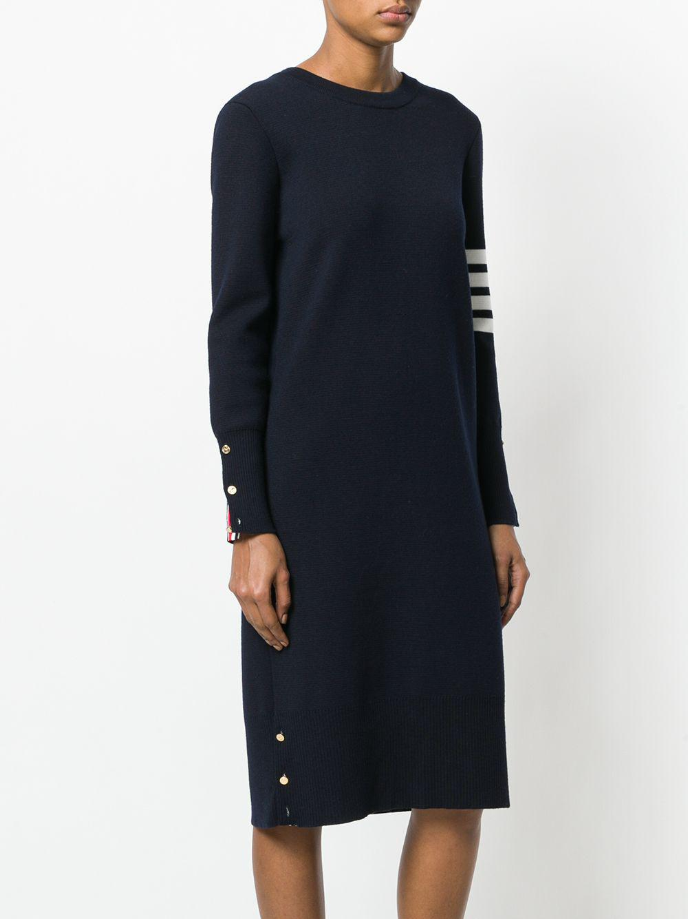 Front-to-Back Cardigan Dress Laines Thom Browne en coloris Bleu