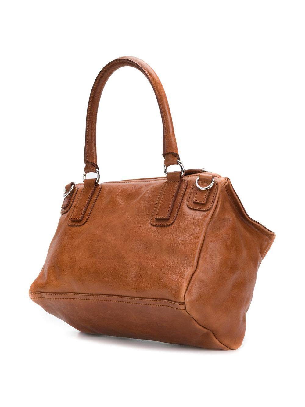 Givenchy Leather Rectangular Shape Tote Bag in Brown