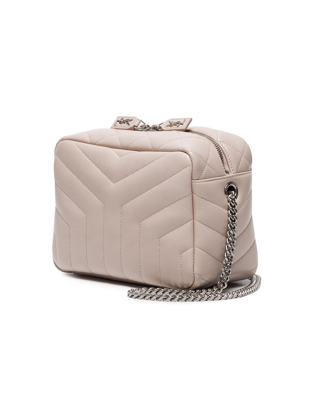 Saint Laurent Light Pink Monogram Lou Lou Quilted Leather