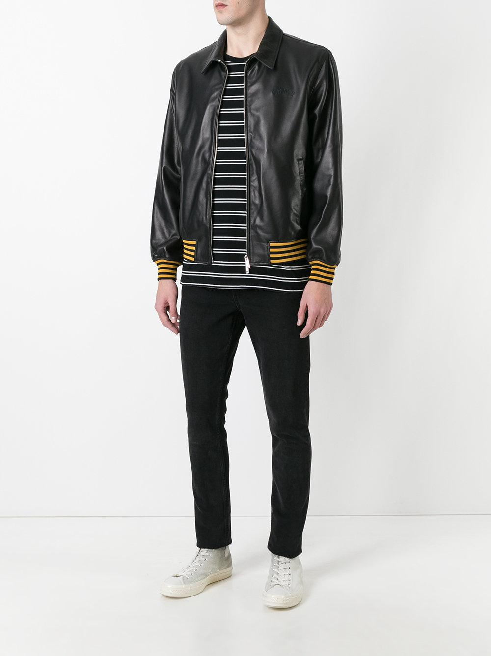 Golden Goose Deluxe Brand Leather Coach Jacket in Brown for Men