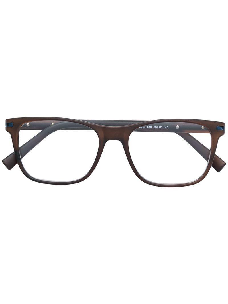 1d1d197cda3 Ermenegildo Zegna Classic Square Glasses in Brown for Men - Lyst