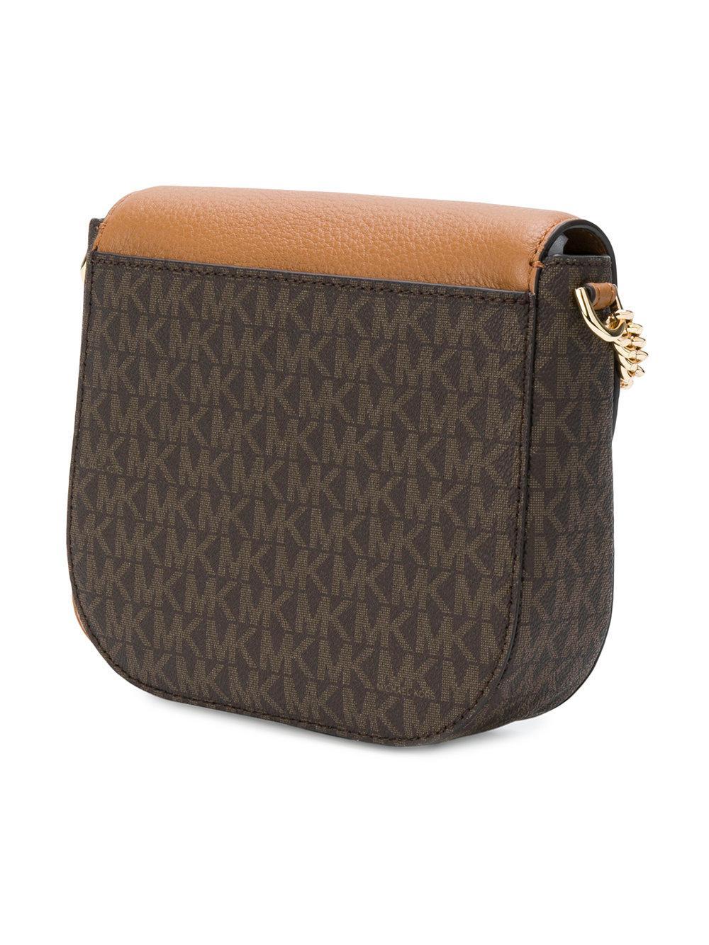 MICHAEL Michael Kors Synthetic Half-dome Logo Crossbody Bag in Brown