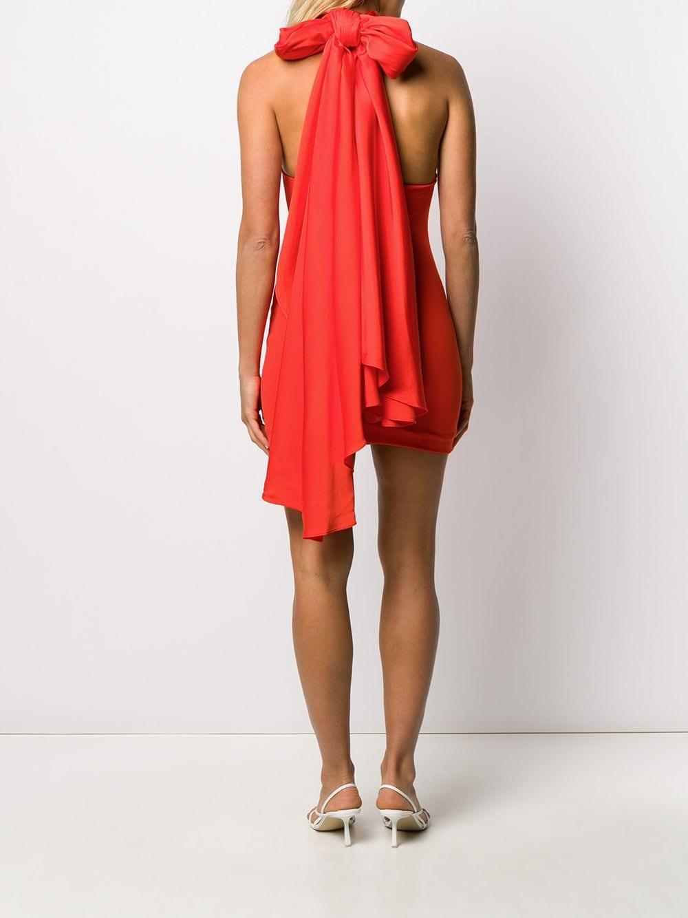 Vestido corto drapeado Maja Solace London de Tejido sintético de color Naranja