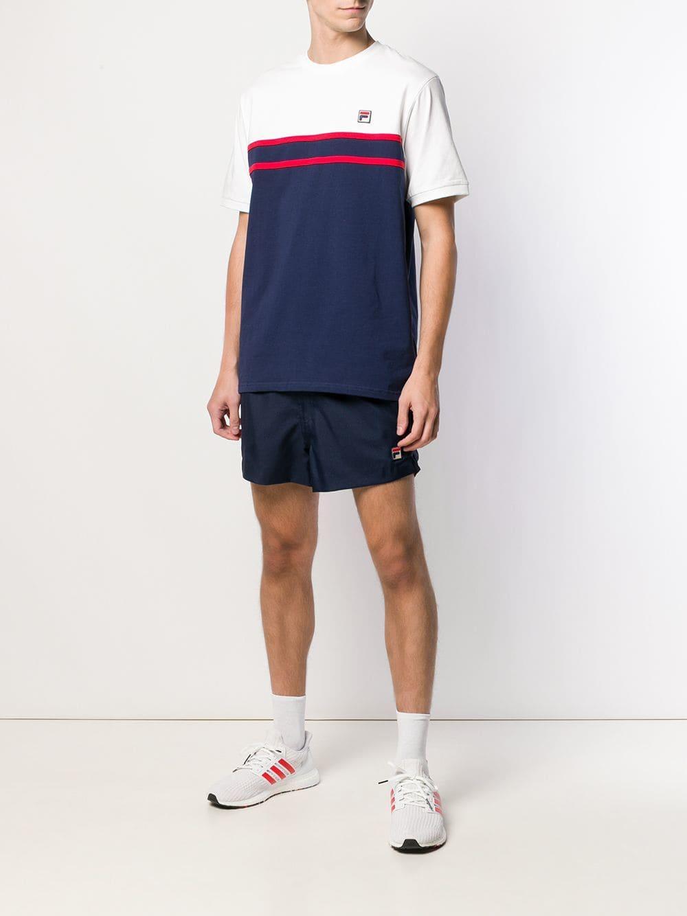 503f6ffffdbc9 Fila Patch Detailed Deck Shorts in Blue for Men - Lyst