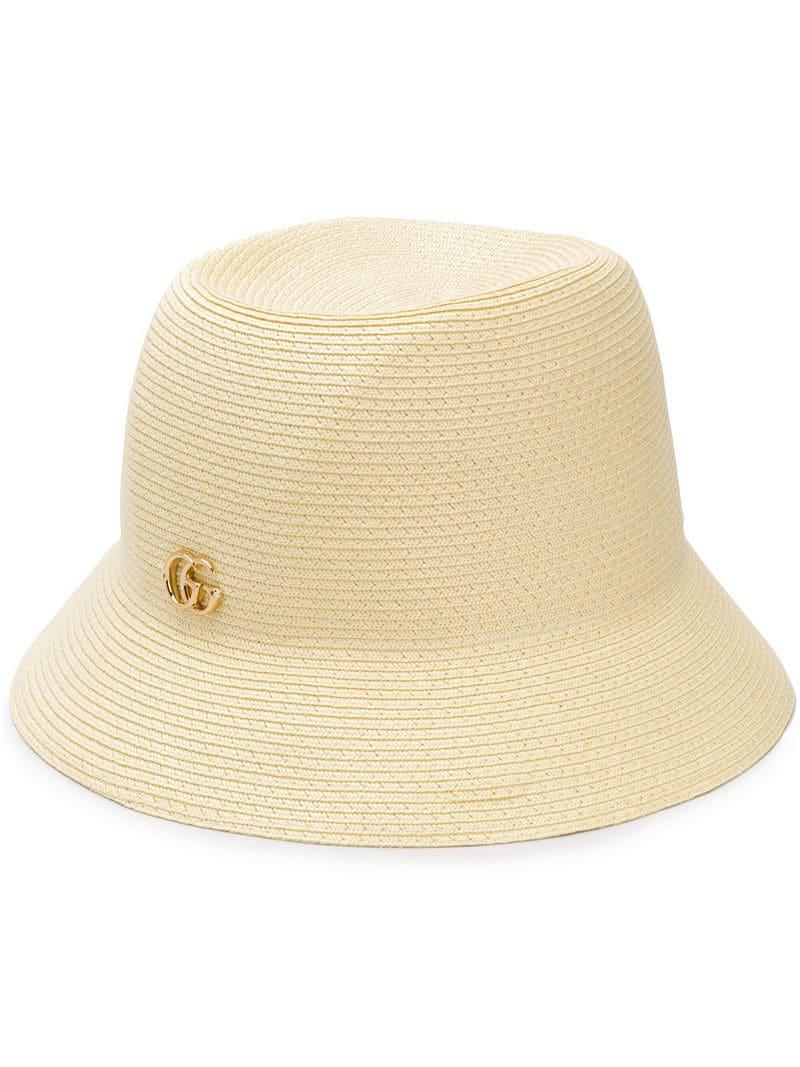 52618c7d1 Gucci Logo Trilby Hat in Natural - Lyst