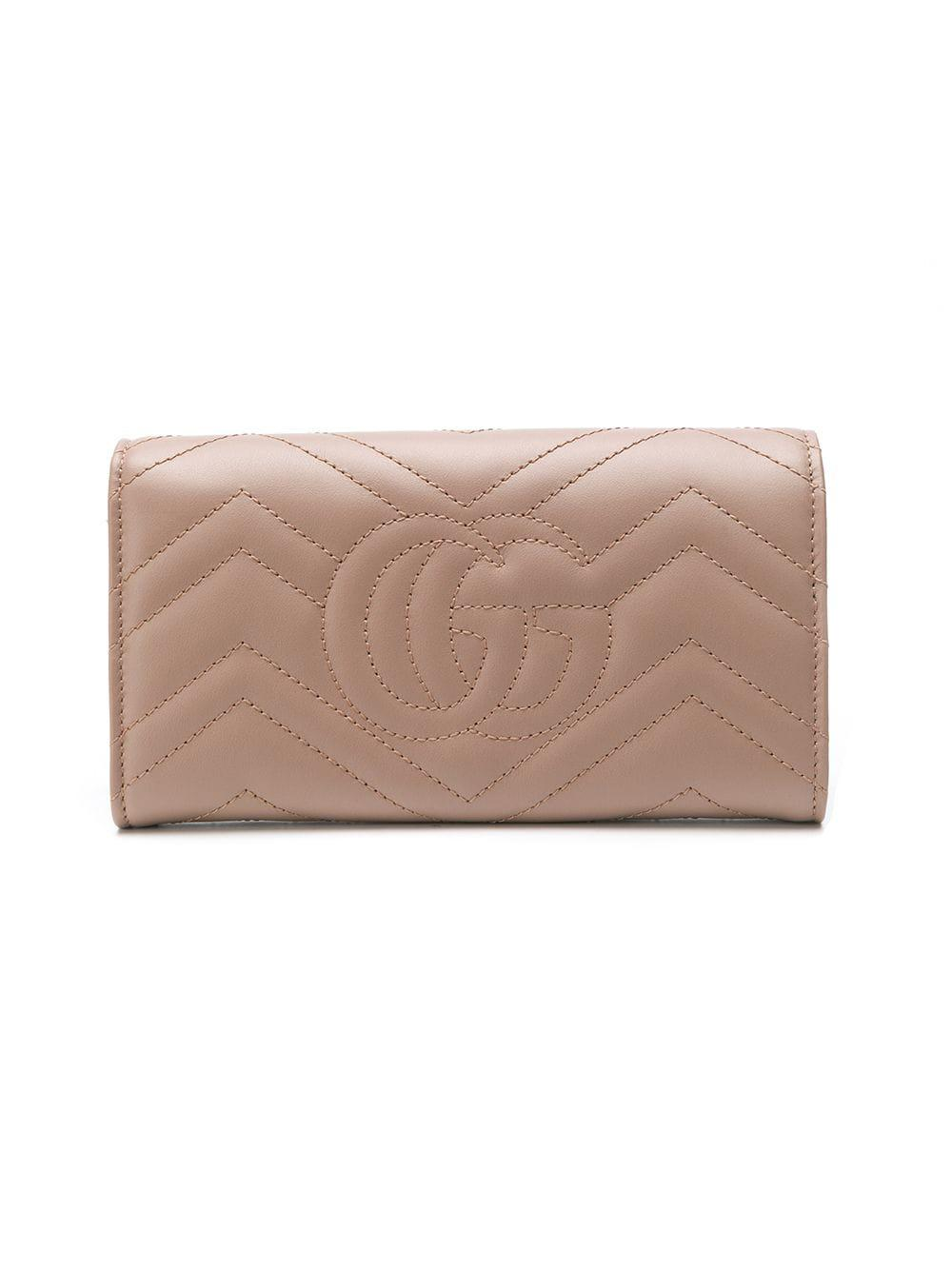 0d4276b05f18 Gucci GG Marmont Continental Wallet - Lyst
