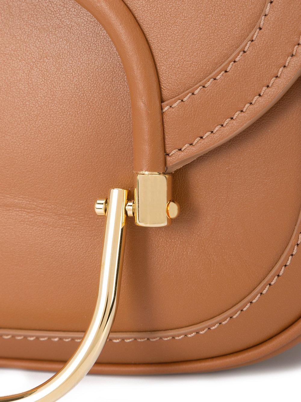 10 Crosby Derek Lam Leather Fold Over Cross Body Bag in Brown