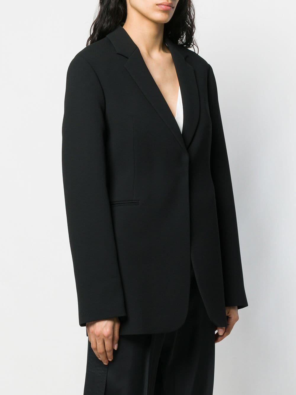 Blazer à fermeture dissimulée Synthétique Victoria Beckham en coloris Noir