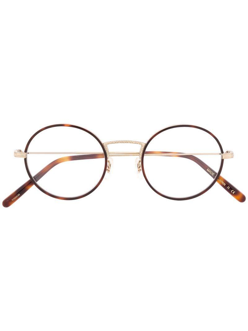 a0c32cfe883 Lyst - Oliver Peoples Ellerby Glasses in Brown