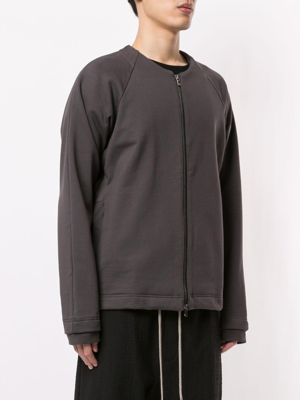 The Viridi-anne Katoen Sweater Met Rits in het Grijs voor heren