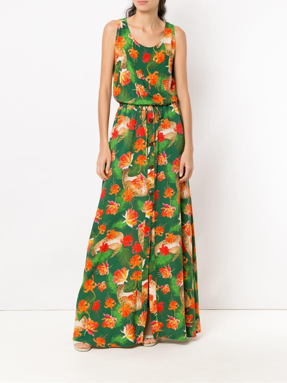 Vestido Rebeca largo Isolda de color Verde
