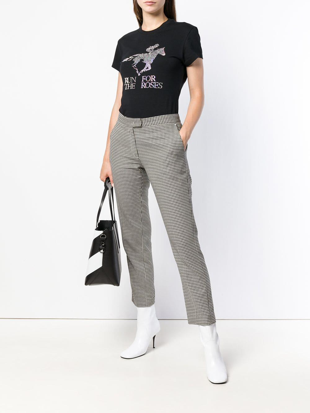 3c1ec0a1ed42 Off-White c o Virgil Abloh  run For The Horses  T-shirt in Black - Save 7%  - Lyst