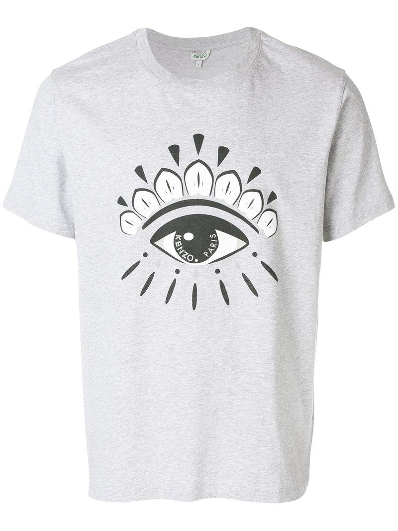 d434c596 Lyst - KENZO Eye T-shirt in Gray for Men