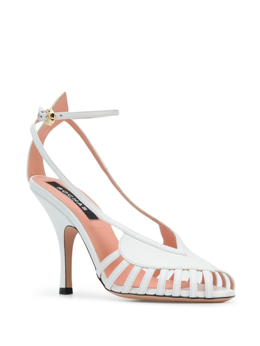 c2dedf611276 Rochas - White Cut-out Sandals - Lyst. View fullscreen