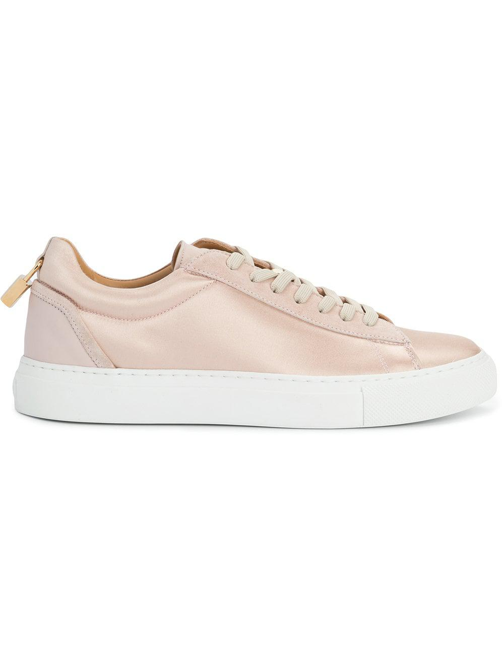 Buscemi Leather Tennis Low Top Sneakers in Pink & Purple (Pink)