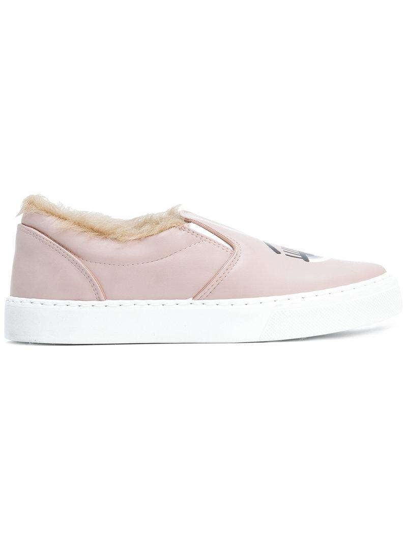 lyst chiara ferragni flirting sneakers in pink. Black Bedroom Furniture Sets. Home Design Ideas