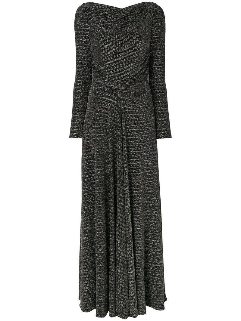 Talbot Runhof glittery detail draped gown Clearance Visit New bRHTkJyT