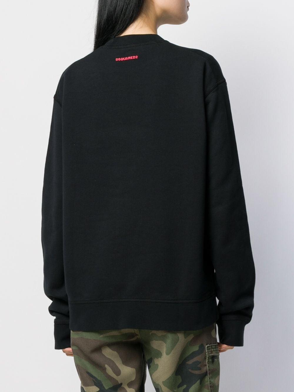 Sudadera estampada DSquared² de color Negro