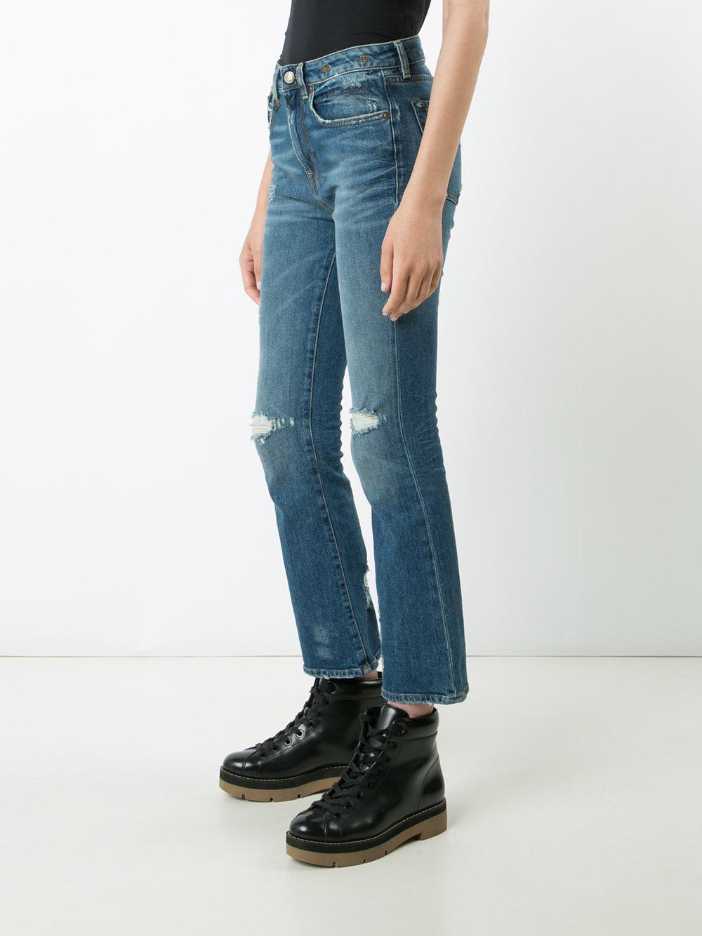 R13 Denim Flared Jeans in Blue