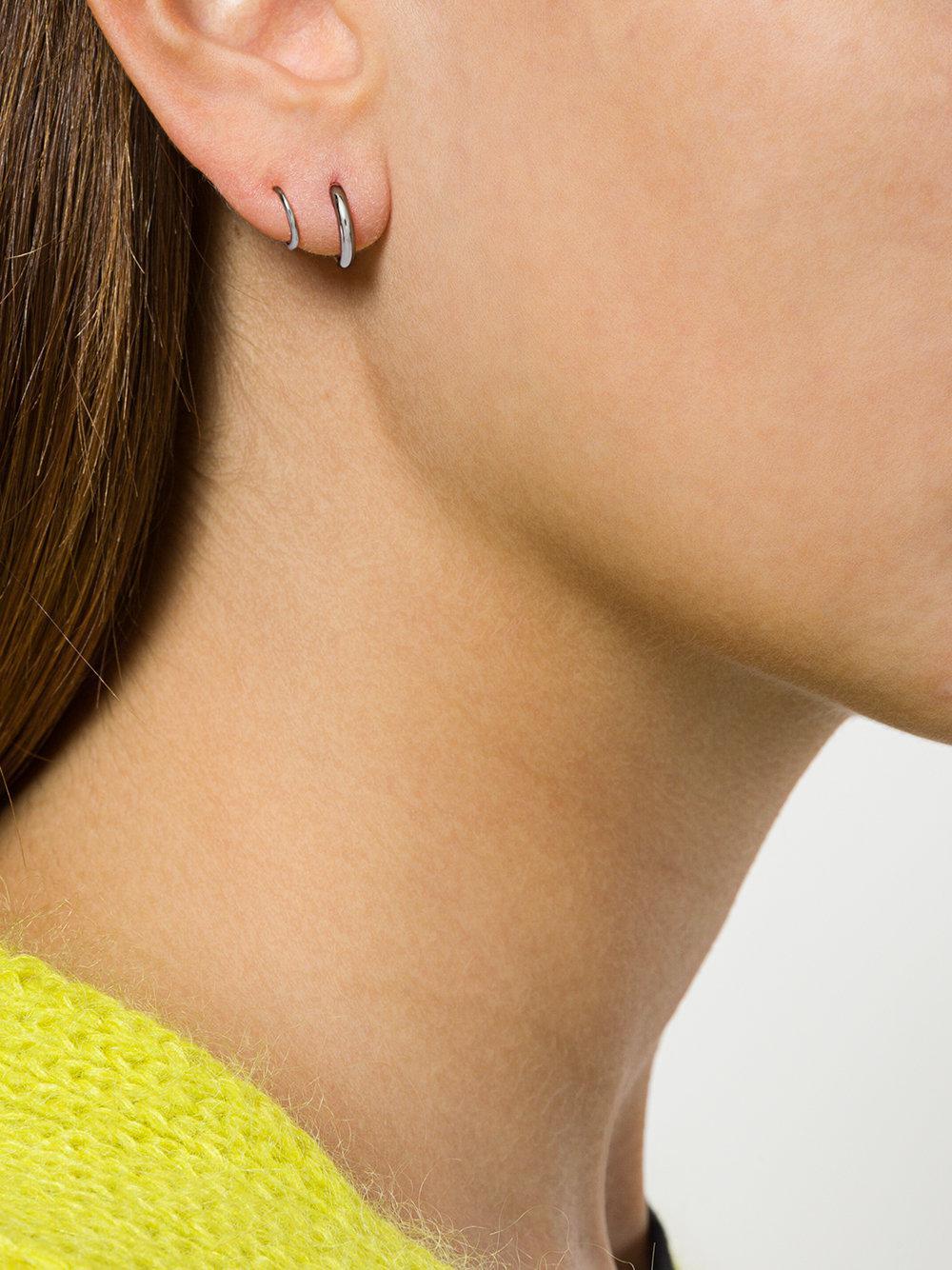 d75ffccdc93d6 Maria Black Metallic Dogma Twirl Earrings