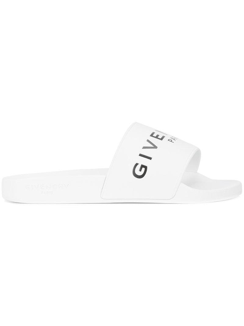 c9dcfbaa608 Lyst - Givenchy Logo Detail Sliders in White for Men - Save 30%