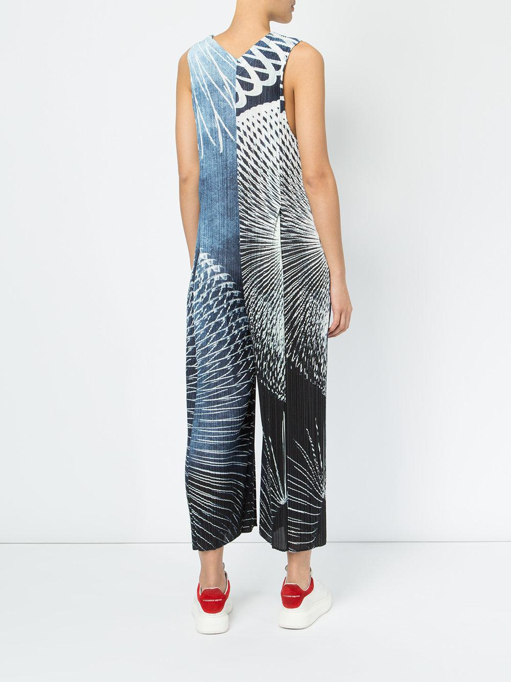 141deb1ccb17e Lyst - Pleats Please Issey Miyake Pleated Jumpsuit in Blue