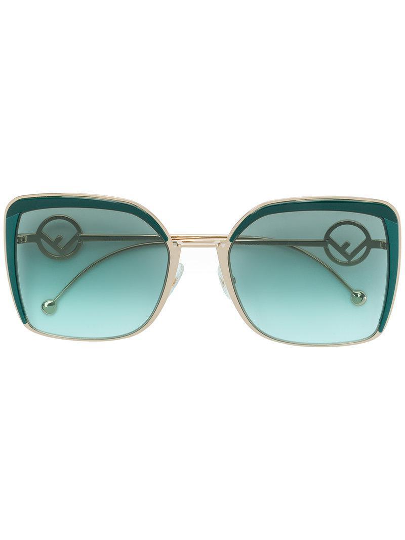 a9f210a7a70 Fendi F Is Fendi Sunglasses in Green - Lyst