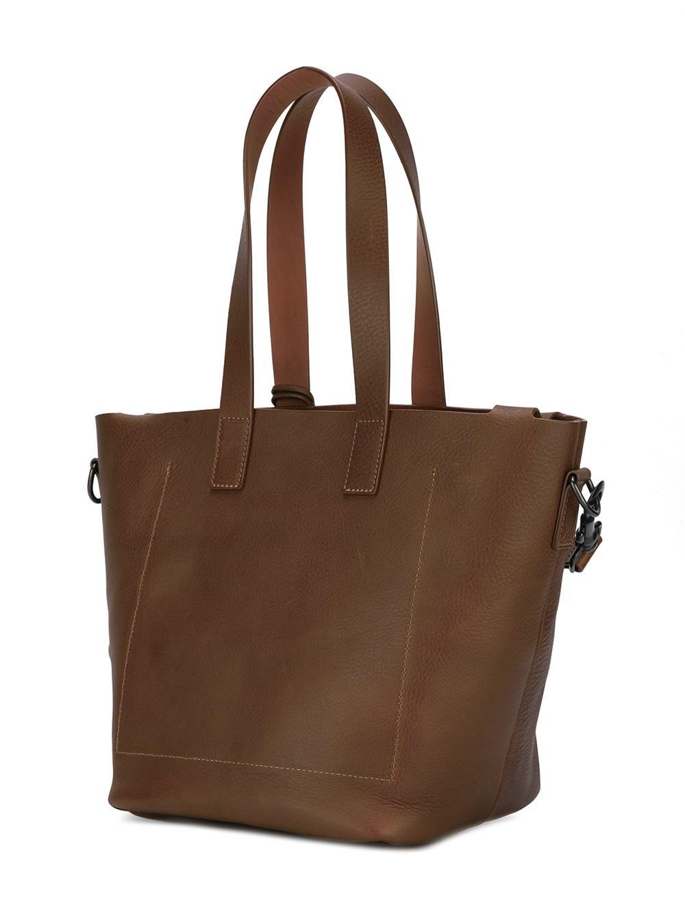 Marsèll Leather Multiple Straps Tote in Brown