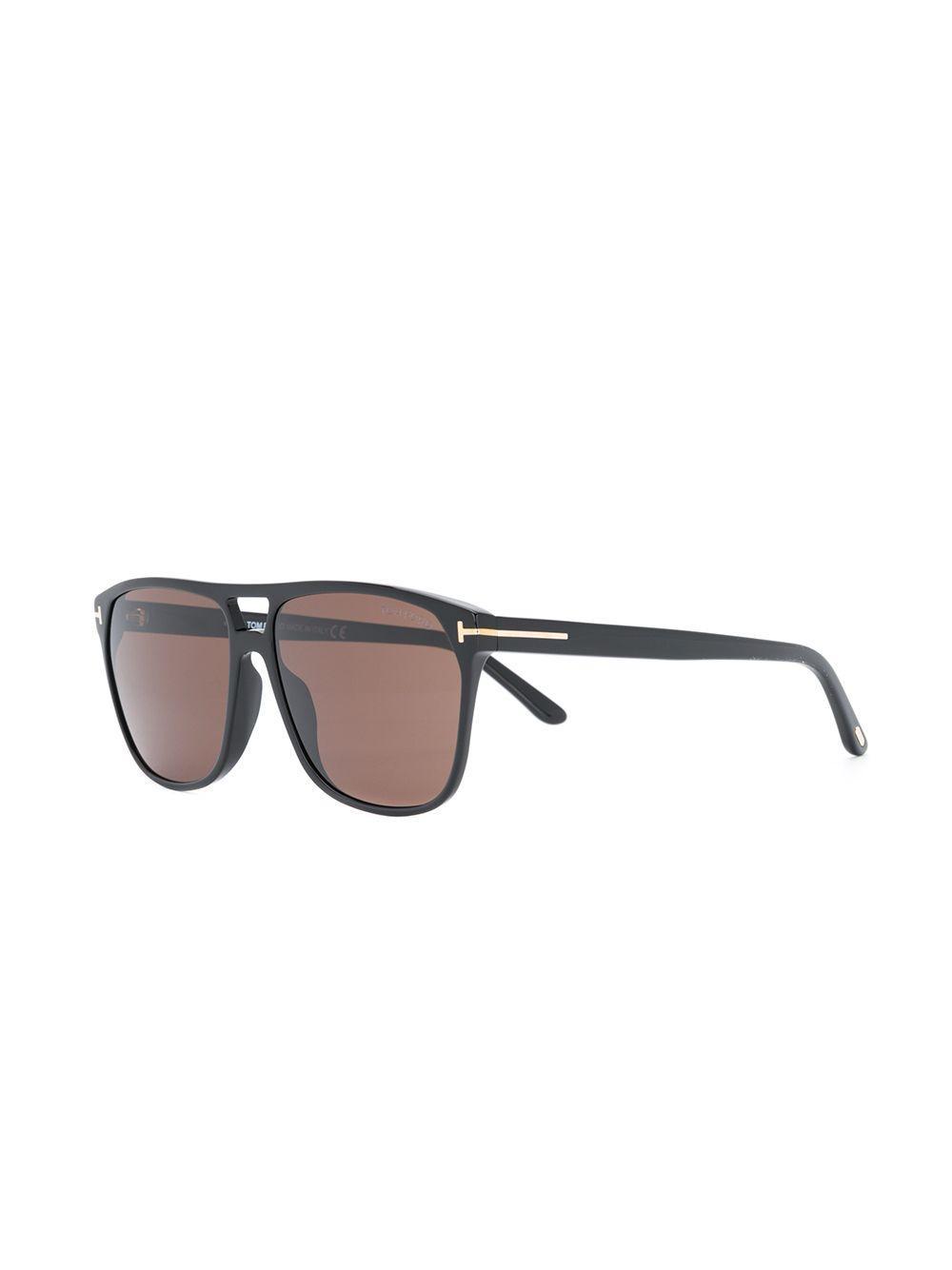 84d47c7af67 Tom Ford Square Frame Sunglasses in Black for Men - Lyst