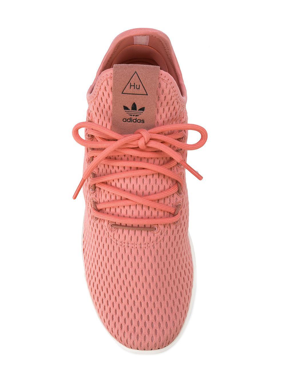 adidas Synthetic X Pharrell Williams Tennis Hu Sneakers in Pink & Purple (Pink)