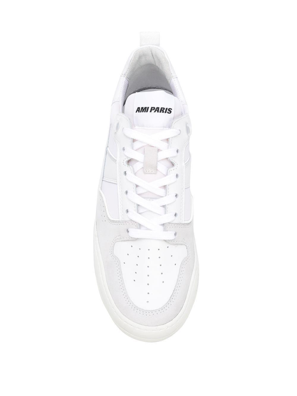Zapatillas bajas con suela gruesa AMI de Neopreno de color Blanco para hombre