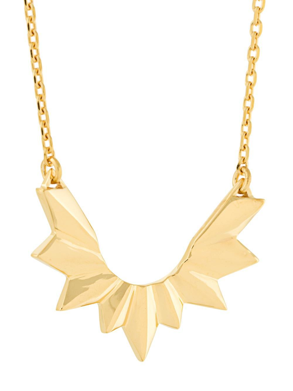Maria Black Wing necklace - Yellow & Orange