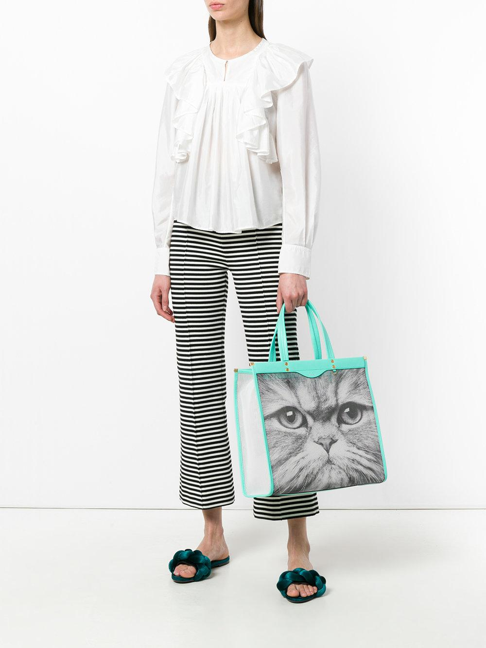 Anya Hindmarch Synthetic Cat Mesh Tote Bag in White