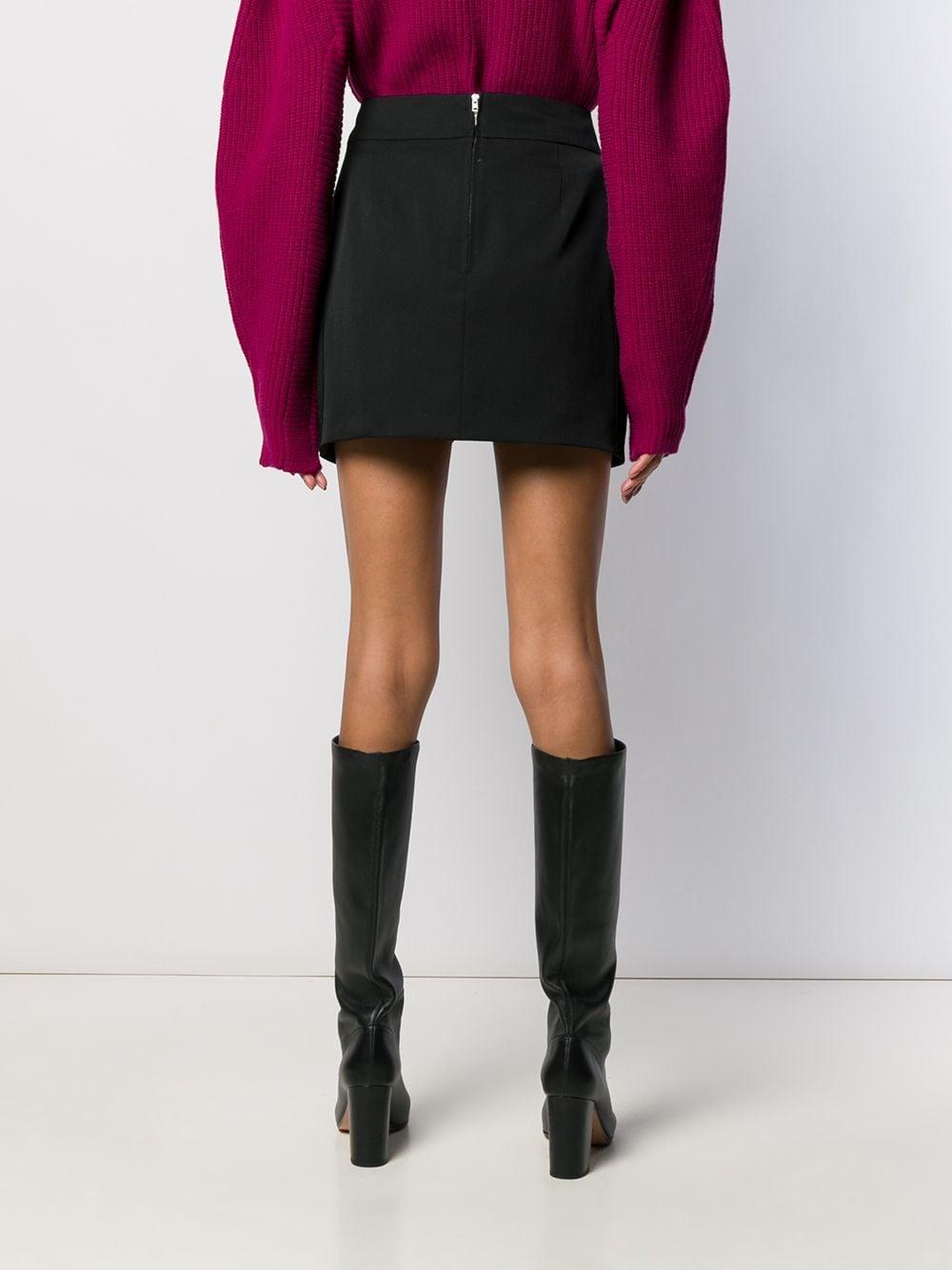 Minijupe à design plissé Isabel Marant en coloris Noir