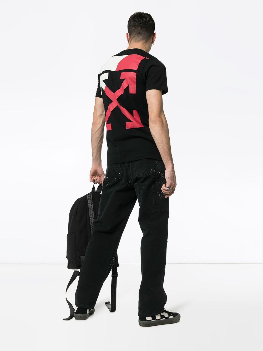 fa48d9768ab7 Lyst - Off-White c o Virgil Abloh Split Logo Cotton T-shirt in Black for  Men - Save 21%