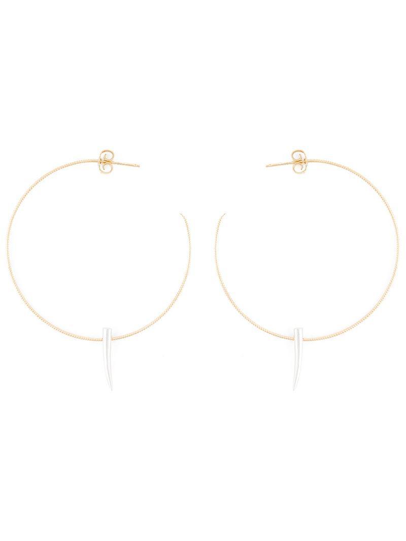 Wouters & Hendrix spiked hoop earrings - Metallic fKHDEpq