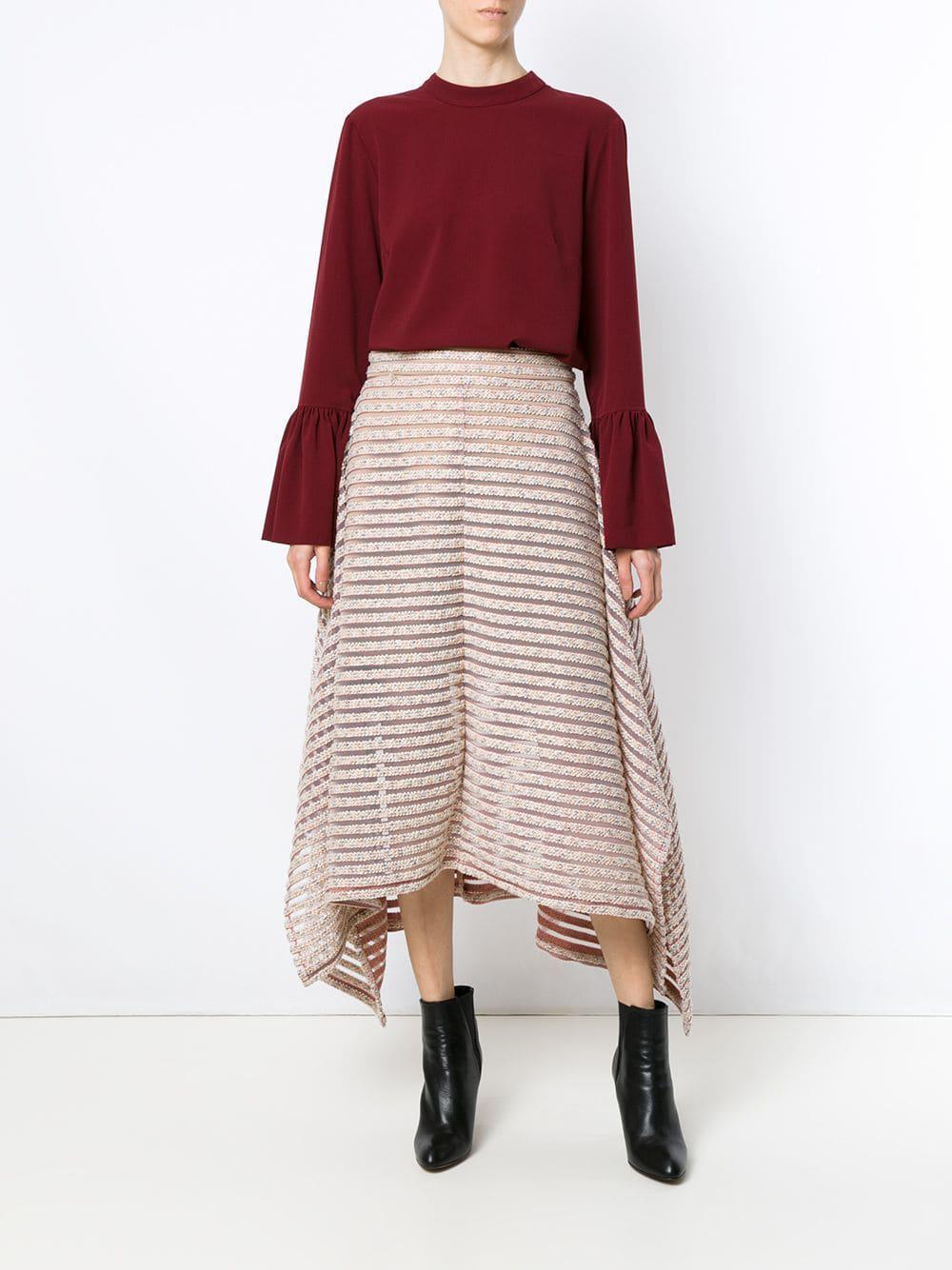 Olympiah Cotton Tiraditos Midi Skirt