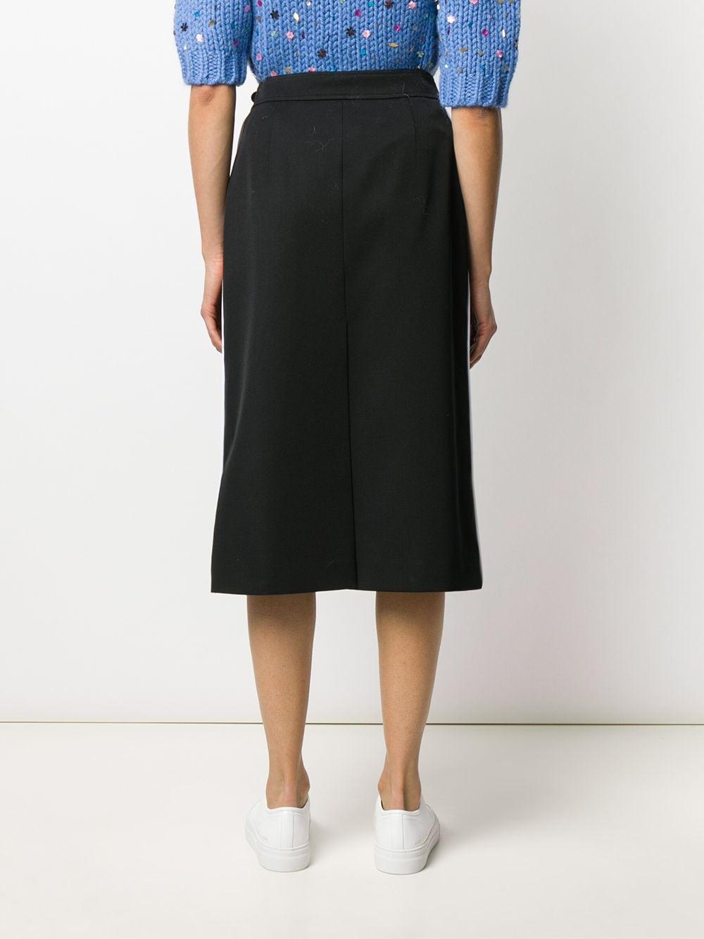 Jupe droite à sequins brodés Laines Prada en coloris Noir