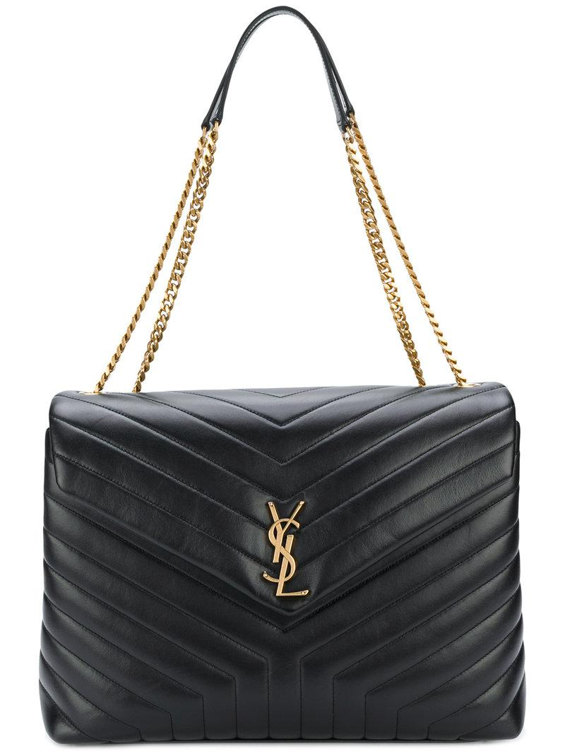 2cf89ac3ad Saint Laurent Large Loulou Chain Bag in Black - Save 18% - Lyst