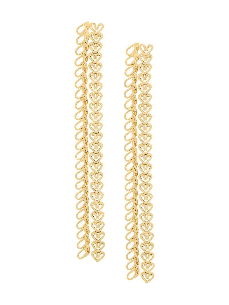 Wouters & Hendrix My Favourite chain earrings - Metallic 5oDV9t9