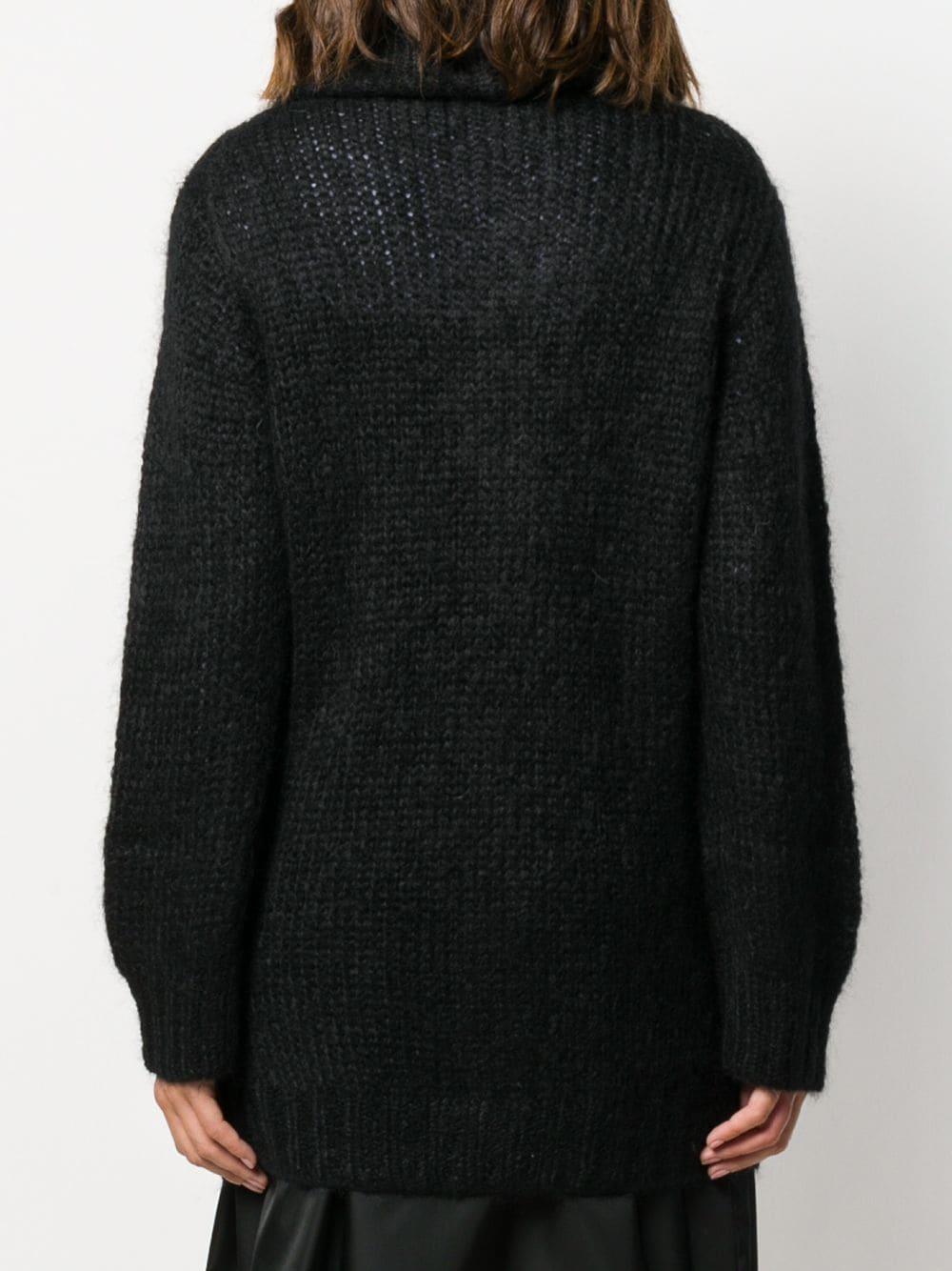 Cárdigan con cuello esmoquin Prada de Lana de color Negro